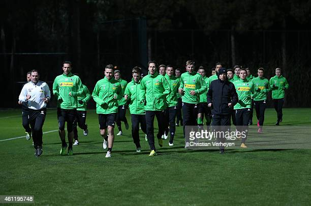 Team players during a training session at day one of Borussia Moenchengladbach training camp on January 8 2015 in Belek Turkey