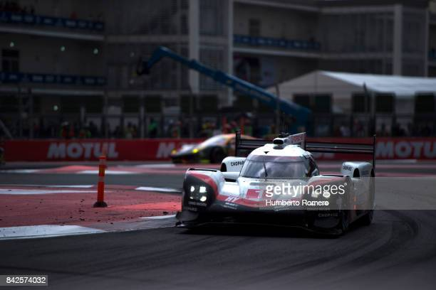 Team Porsche LMP during the 6 Hours of Mexico Practice as part of FIA World Endurance Championship at Hermanos Rodriguez Race Track on September 03...