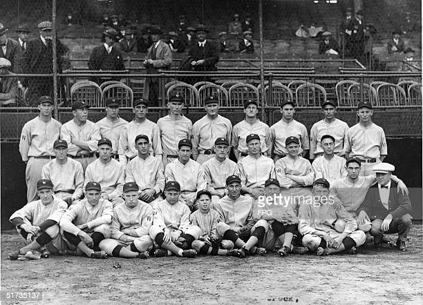 Team portrait of the 1924 Washington Senators 1924 Back row LR Firpo Marberry Ralph Miller Curly Ogden Joe Martina Tom Zachary Walter Johnson Goose...