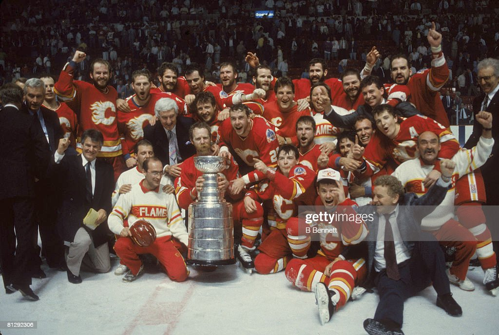 Calgary Flames, Stanley Cup Champions : News Photo