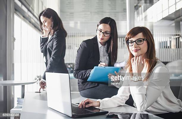Team Portrait of Young Female Businesswomen