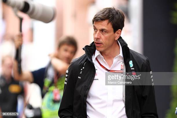 Team Principal CEO of MercedesAMG Petronas Motorsport Executive Director Torger Christian 'Toto' Wolff ' in the paddock during the Monaco Formula One...