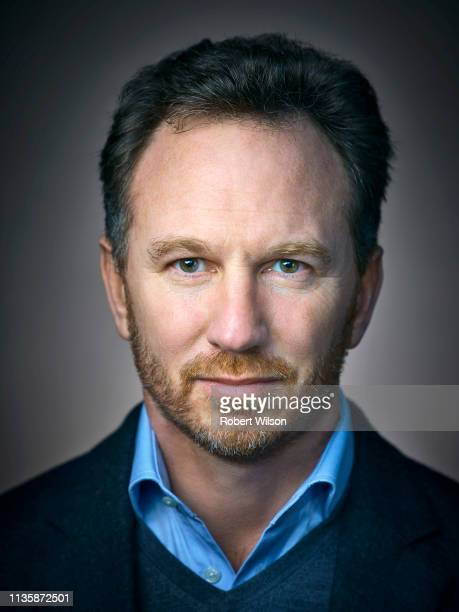 Team Principal of the Red Bull Racing Formula One team, Christian Horner is photographed for Director magazine on February 6, 2018 in Milton Keynes,...