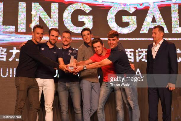 Team QuickStep Floors of Belgium UCI World Tour Team Classification / Philippe Gilbert of Belgium and Team QuickStep Floors / Davide Martinelli of...