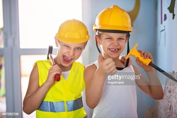 team renovation - demolition - demolishing photos stock photos and pictures