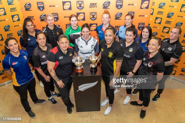 Team representatives Christie Yule from Bay of Plenty, Linda Itunu from Auckland, Arihiana Marino-Tauhinu from Counties Manukau, Chelsea Alley from...