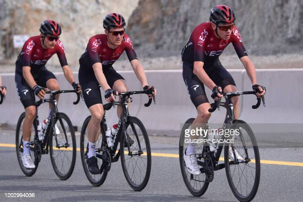 Team rider Chris Froome of England rides during the second stage of the UAE Cycling Tour from Hatta to Hatta Dam, on February 24, 2020.