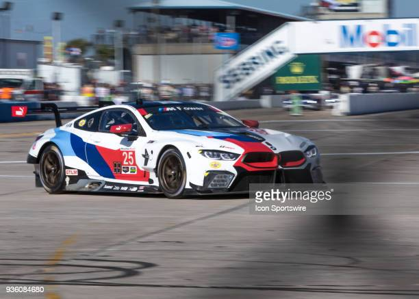 Team RLL Drivers Alexander Sims, Bill Auberlen & Connor De Phillippi during 12 hours of Seabring Race on March 17 2018, at Sebring International...