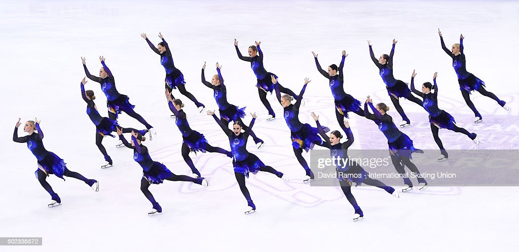 Team Rockettes of Finland performs during the Synchronized Skating Free program during day three of the ISU Grand Prix of Figure Skating Final 2015/2016 at the Barcelona International Convention Centre on December 12, 2015 in Barcelona, Spain.