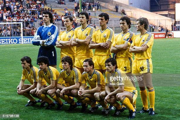 Team Romania during the Football European Championship between Romania and Spain Saint Etienne France on 14 June 1984