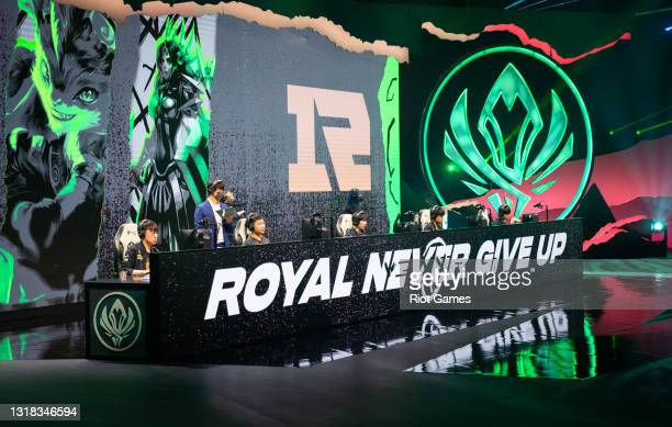 Team Royal Never Give Up at the 2021 MSI annual League of Legends Rumble Stage: Day 3 on May 16, 2021 in Reykjavik, Iceland.
