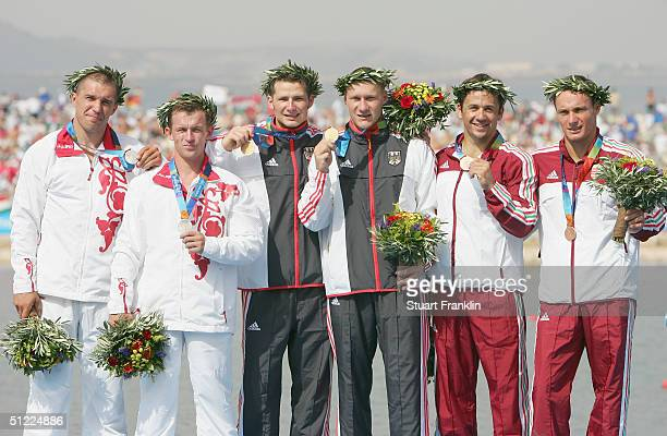 Team Russia of Alexander Kostoglod and Alexander Kovalev team Germany of Christian Gille and Tomasz Wylenzek and team Hungary of Gyorgy Kozmann and...