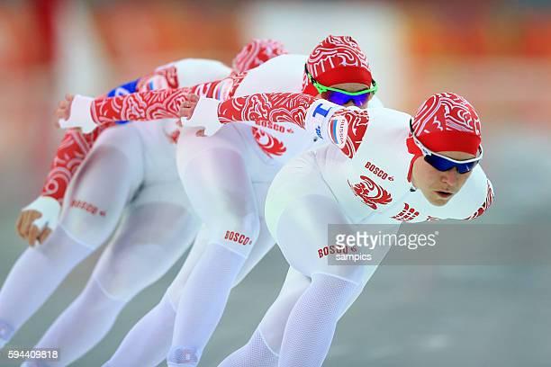 Team Russland Russia Bronze GRAF Olga LOBYSHEVA Yekaterina SKOKOVA Yuliya Eisschnellaufen Speedskating Team olympic winter games 2014 sochi...