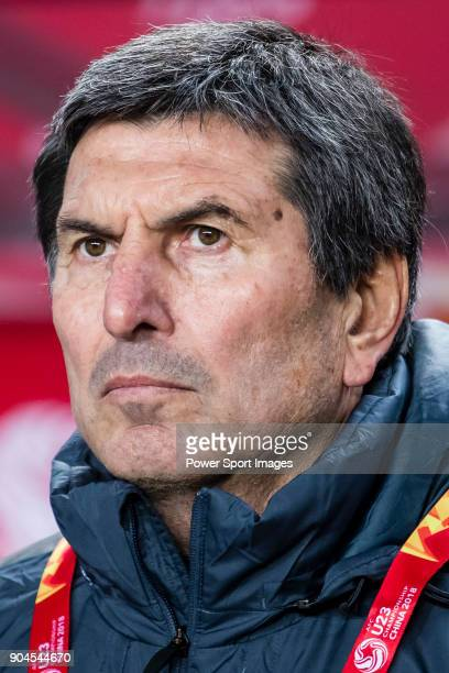 Team Saudi Arabia manager Daniel Teglia looks prior to the AFC U23 Championship China 2018 Group C match between Jordan and Saudi Arabia at Changshu...