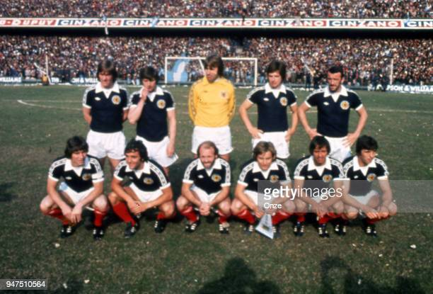 Team Scotland during a presentation of team qualifying for the World Cup 1978 in Argentina on 28th December 1977