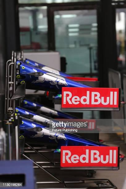 Team Scuderia Toro Rosso HONDA pit equipment before the 2019 Australian F1 Grand Prix preparations