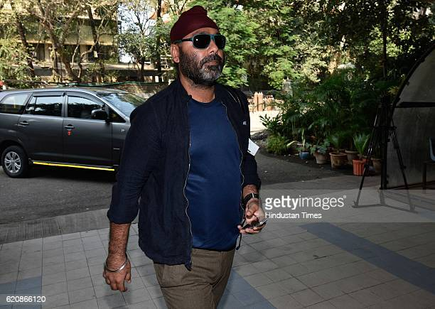 BCCI team selector Sarandeep Singh arrives during a press conference to declare India's test team against England at BCCI headquarters on November 2...