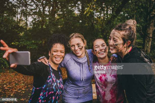 team selfie - charity benefit stock pictures, royalty-free photos & images