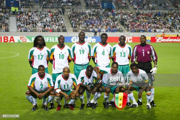 Team Senegal lineup during the World Cup match between France and Senegal in World Cup Stadium Seoul South Korea on 31th May 2002 Tony Sylva Omar Daf...