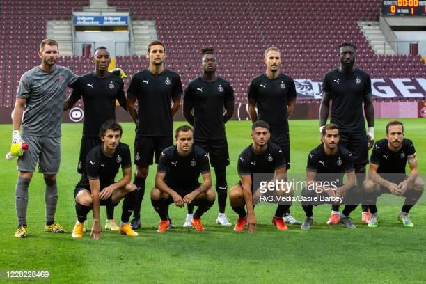Team Servette FC pose for the team photo prior the UEFA Europa League qualification match between Servette FC and MFK Ruzomberok at Stade de Geneve...