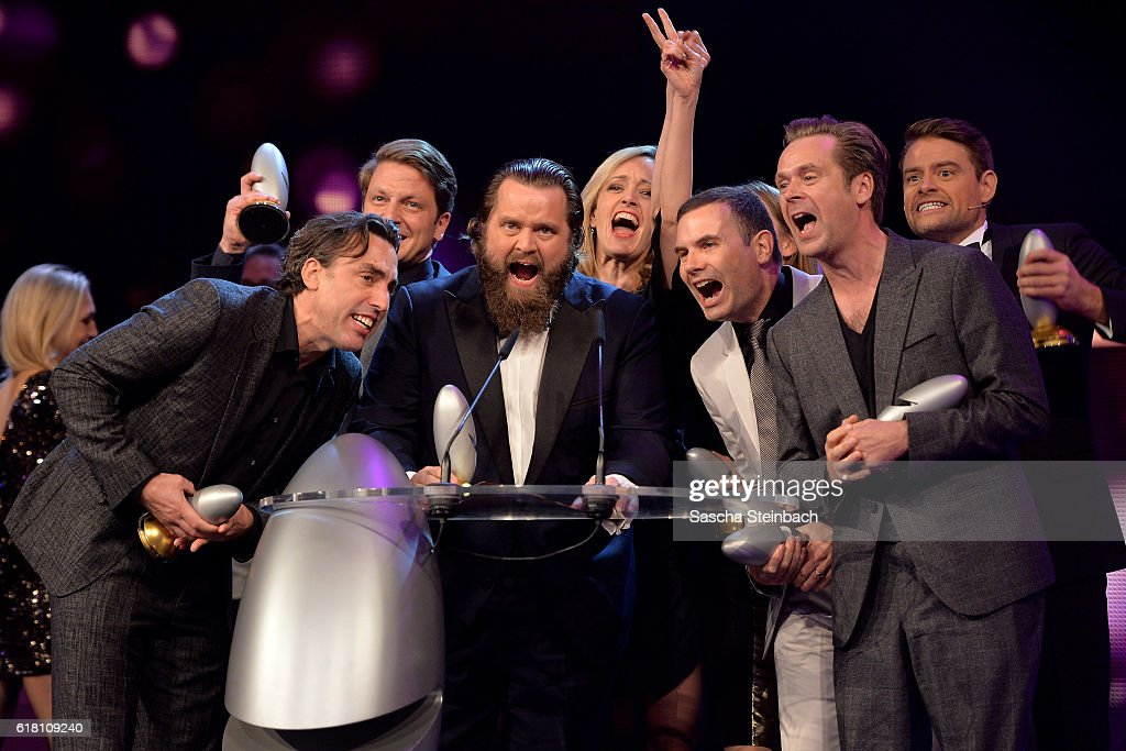 Team Sketch History attend the 20th Annual German Comedy Awards at Coloneum on October 25, 2016 in Cologne, Germany.