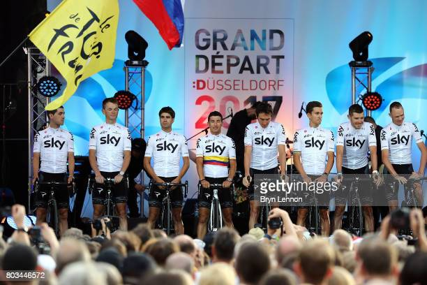 Team SKY attend the 2017 Tour de France Team Presentation on June 29 2017 in Duesseldorf Germany