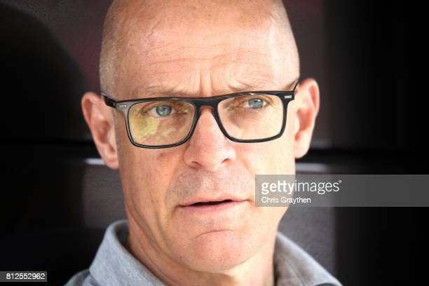 Team Sky Principal Sir Dave Brailsford speaks with the media prior to stage 10 of the 2017 Le Tour de France, a 178km stage from Périgueux to...