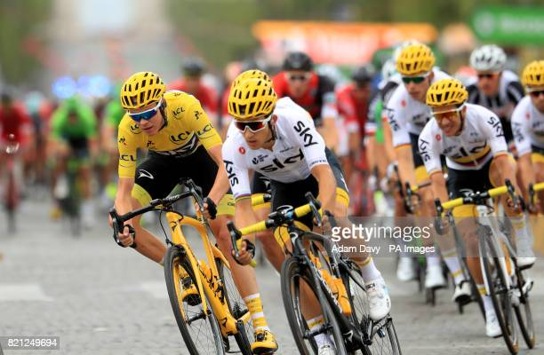 Team Sky's Chris Froome during stage 21 of the Tour de France in Paris France