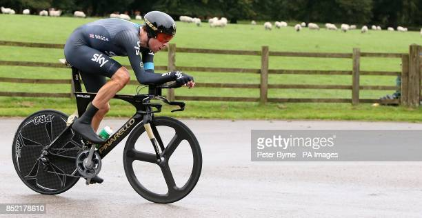 Team Sky's Sir Bradley Wiggins during the Stage Three Individual Time Trial in the 2013 Tour of Britain in Knowsley PRESS ASSOCIATION Photo Picture...