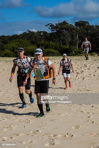 Team SolomonSuunto Czech AR Team from Czech Republic heading out on the coasstering during the Adventure Race World Championship on November 11 2016...