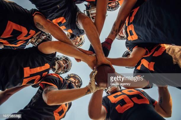 nfl-team-spirit - the championship football league stock-fotos und bilder