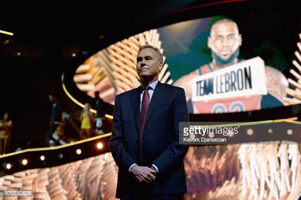 Team Stephen head coach Mike D'Antoni introduced onstage during the NBA AllStar Game 2018 at Staples Center on February 18 2018 in Los Angeles...