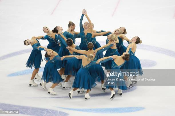 Team Surprise of Sweden performs during a Synchronized Skating free skate duirng the 2017 Shanghai Trophy at the Oriental Sports Center on November...