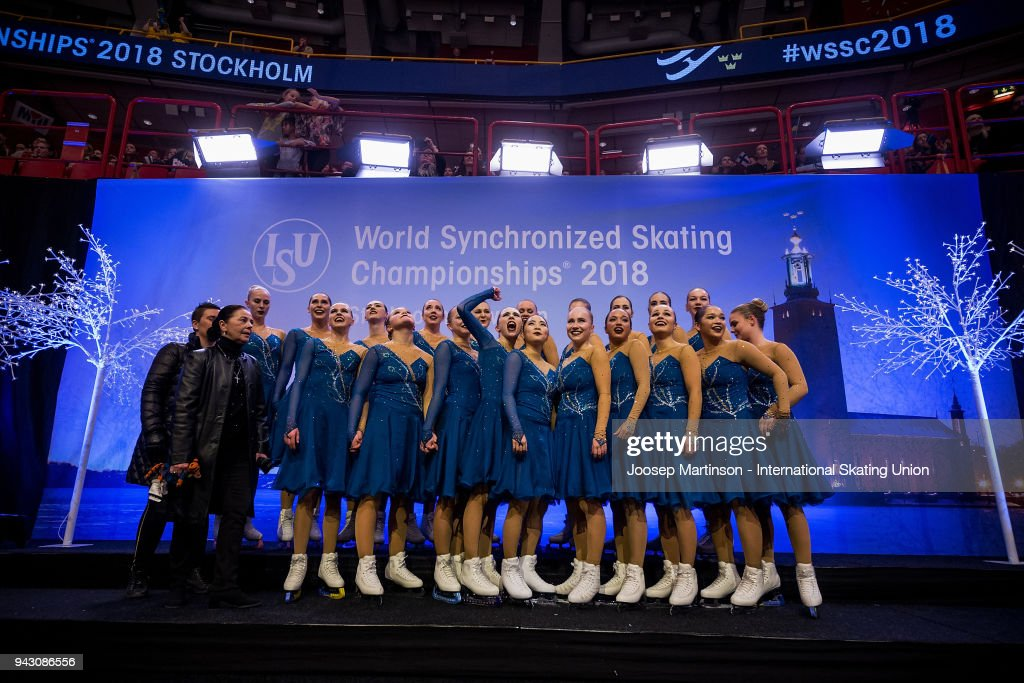 ISU World Synchronized Skating Championships - Stockholm : News Photo