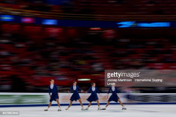 Team Sweet Mozart of Austria compete in the Free Skating during the World Synchronized Skating Championships at Ericsson Globe on April 7 2018 in...