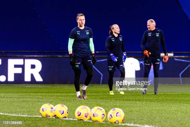 Team Swiss warming up during the friendly match between France and Switzerland at Saint-Symphorien Stadium on February 20, 2021 in Metz, France.