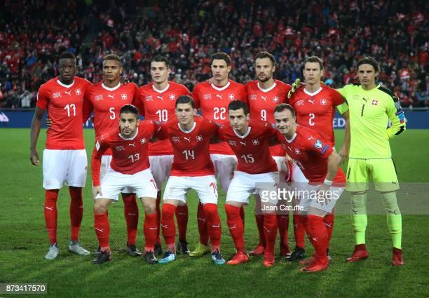 Team Switzerland during the FIFA 2018 World Cup Qualifier PlayOff Second Leg between Switzerland and Northern Ireland at St JakobPark stadium on...