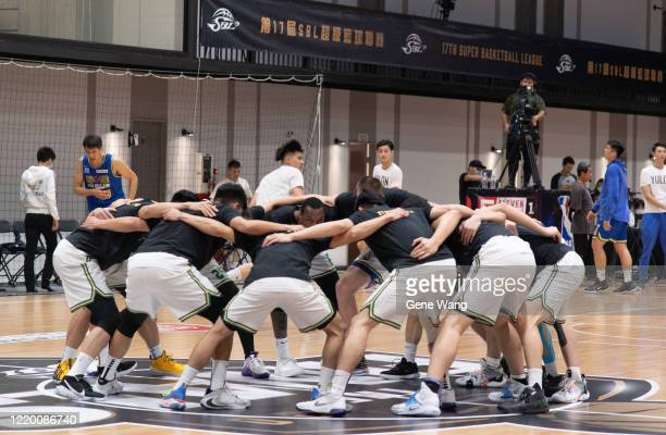 Team Taiwan Beer practice prior to the SBL Finals Game One between Taiwan Beer and Yulon Luxgen Dinos at Hao Yu Trainning Center on April 21 2020 in...