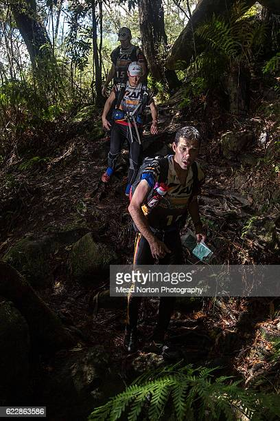 Team Tecnu Adventure Racing from Canada hiking up to 'The Castle' in Morton National Park during the Adventure Race World Championship on November 11...