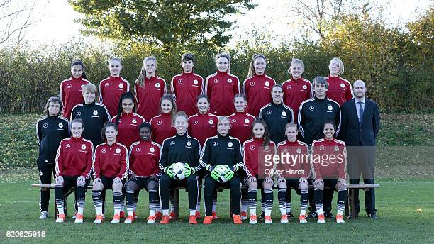 Team U16 Girl's of Germany poses during the photocall at U16 Girl's Germany Team Presentation on November 2 2016 in Flensburg Germany
