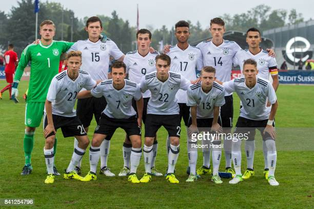 Team U19 Germany from top left #1 JanChristoph Bartels #15 Luca Kilian #17 Timothy Tillman #14 Calvin Brackelmann #6 Atakan Akkaynak Bottom left Sam...