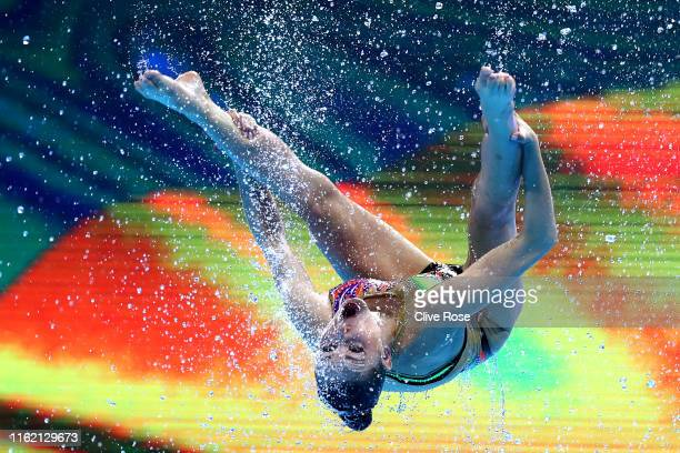 Team Ukraine competes in the Women's Highlight Routine Final on day four of the Gwangju 2019 FINA World Championships at Yeomju Gymnasium on July 15...