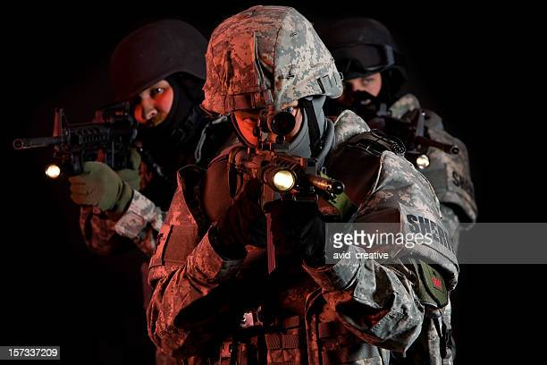 SWAT Team Under Cover of Darkness