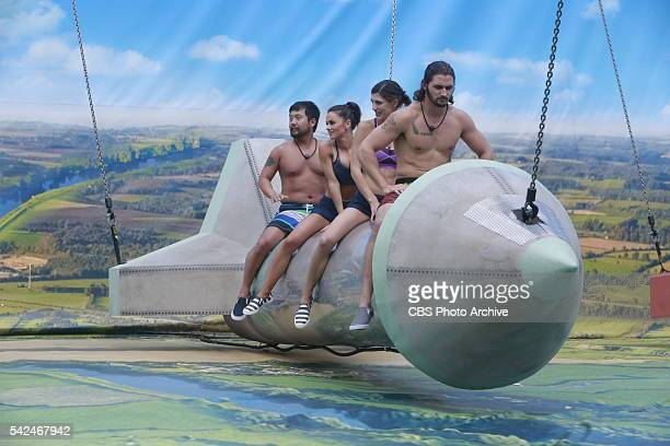 Team Unicorn competes in Ride the Rocket on the season premiere of BIG BROTHER Wednesday June 22 on the CBS Television Network