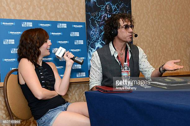 Team Unicorn member Alison Haislip and radio personality Ralph Cirella attend Howard Stern's 'Geektime' Live Broadcast from ComicCon 2014 at Hilton...
