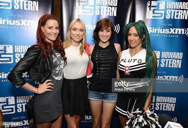 Team Unicorn members Rileah Vanderbilt Clare Grant Alison Haislip and Milynn Sarley attend Howard Stern's 'Geektime' Live Broadcast from ComicCon...