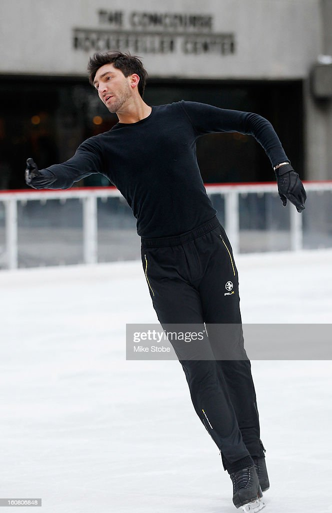 Team USA 2014 Olympic figure skating hopeful Evan Lysacek performs during the Today Show One Year Out To Sochi 2014 Winter Olympics celebration at NBC's TODAY Show on February 6, 2013 in New York City.