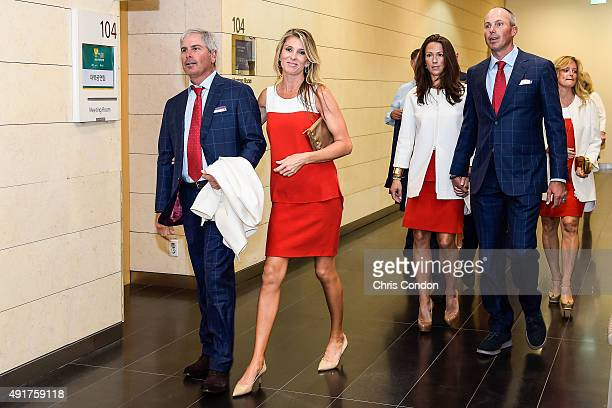 Team USA Captain's Assistant Fred Couples and his girlfriend Suzanne Hannemann and Sybi and Matt Kuchar leave following The Presidents Cup Opening...