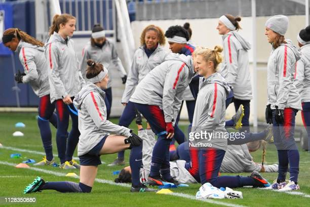 Team USA during the SheBelieves Cup training and media availability session at Nissan Stadium on March 1 2019 in Nashville Tennessee United States