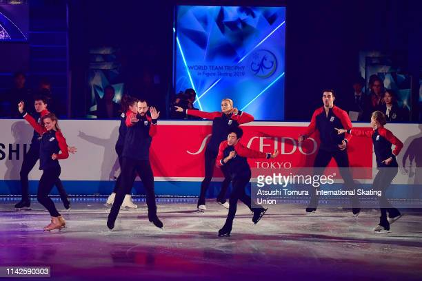 Team USA perform in the exhibition gala during day 4 of the ISU Team Trophy at Marine Messe Fukuoka on April 14 2019 in Fukuoka Japan Photo by...